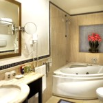 inside the bathroom with jacuzzi