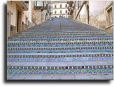 Caltagirone - Stairs of S. Maria del Monte made of ceramics